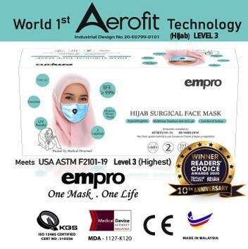 EMPRO Hijab Surgical Face Mask (HSM-194) 50PCS- BFE ≥99%
