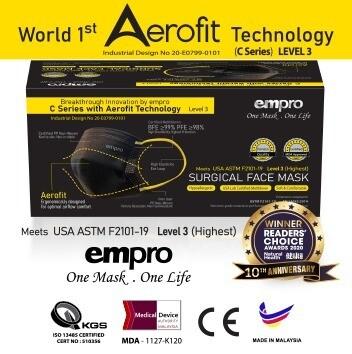 World 1st Aerofit By empro. Aerofit C Series Face Mask BPE99%. PFE 98%. (50 PCS)