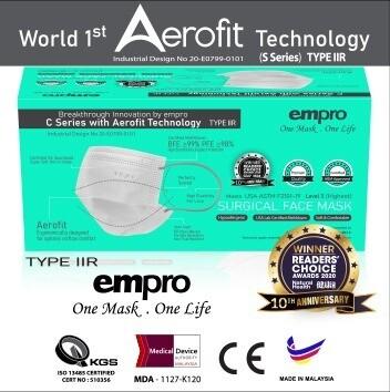 EMPRO Surgical Face Mask Box (SM-8786) 50PCS - BFE ≥98%