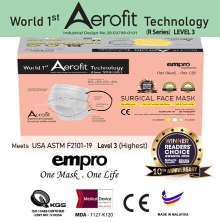 EMPRO R Series Surgical Face Mask (SM-149C) 50PCS- BFE ≥99%