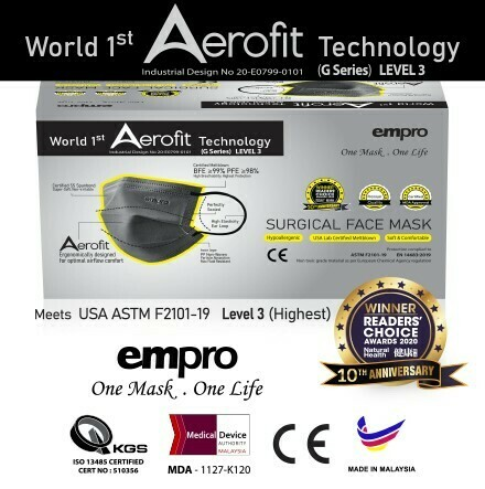 empro Surgical face mask - Aerofit G series GS-319 ( Space Grey)