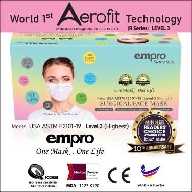 EMPRO SIGNATURE Surgical Face Mask (SM-149C) 50PCS- BFE ≥99%