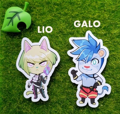 Animal Crossing Promare Stickers