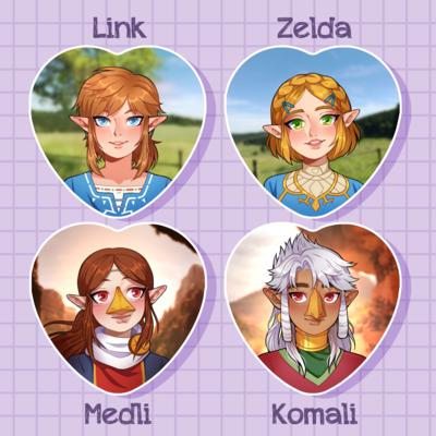 Zelda Heart Pins