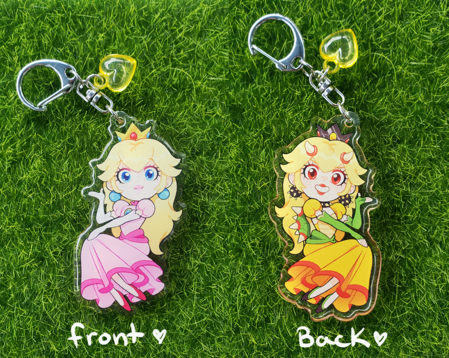 Princess Peach/Bowsette Charm