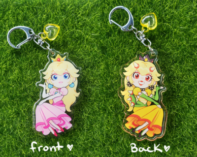 Princess Peach/Bowsette Charm