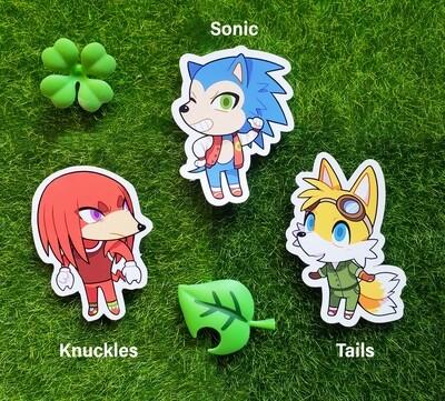 Animal Crossing Sonic Stickers