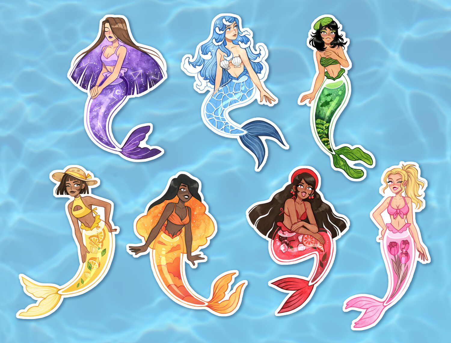 Mermaid Vinyl Stickers