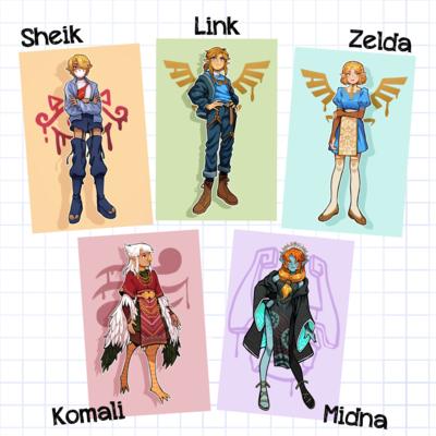 Zelda Fashion Mini Prints