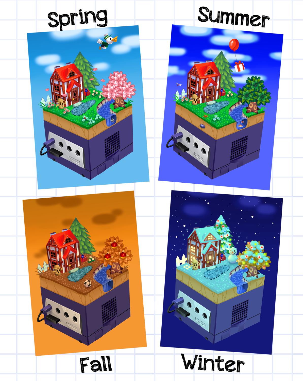 Gamecube Animal Crossing Mini Prints
