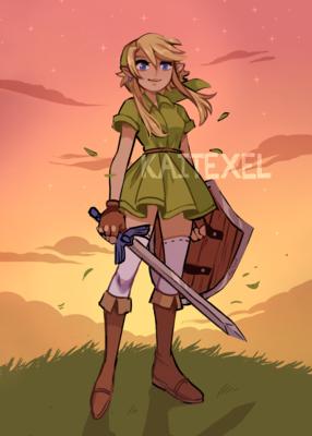 Zelda Linkle Mini Print