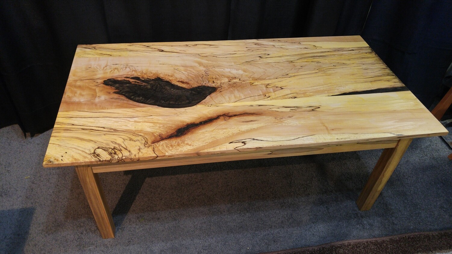 Spalted Maple Coffee Table Reinforced With Resin