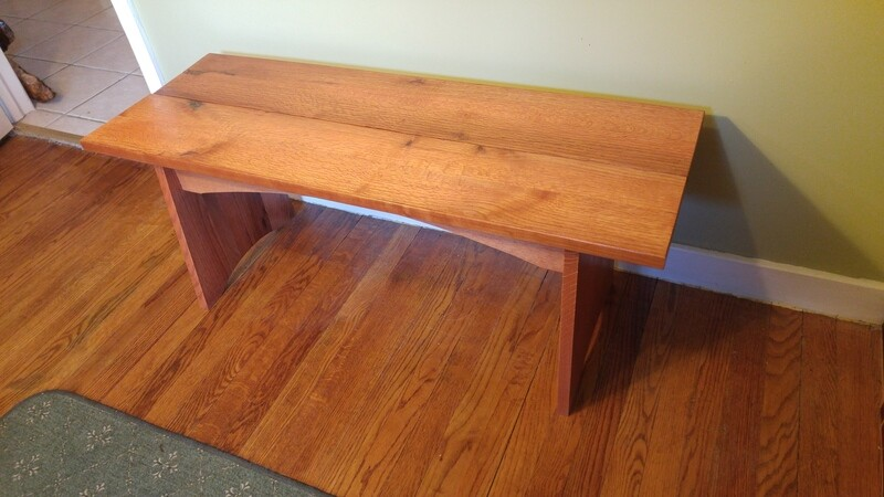 Quarter Sawn Oak Bench