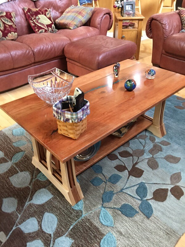 Bent Lamination Coffee Table With Cherry Top(Made to Order)