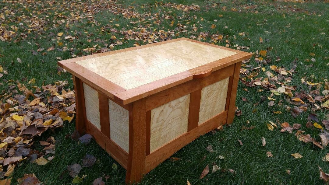 Curly Ash and Cherry Bench/Table