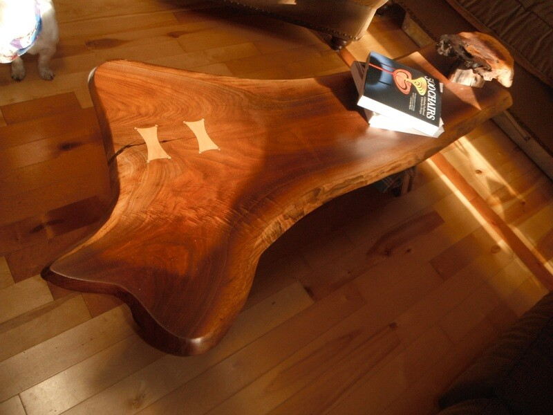 Bent Lamination Live Edge Coffee Table