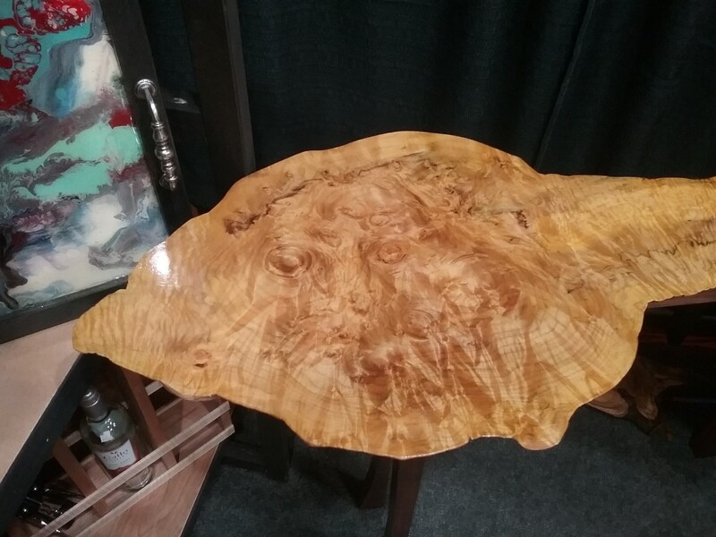Big Leaf Maple Console Table