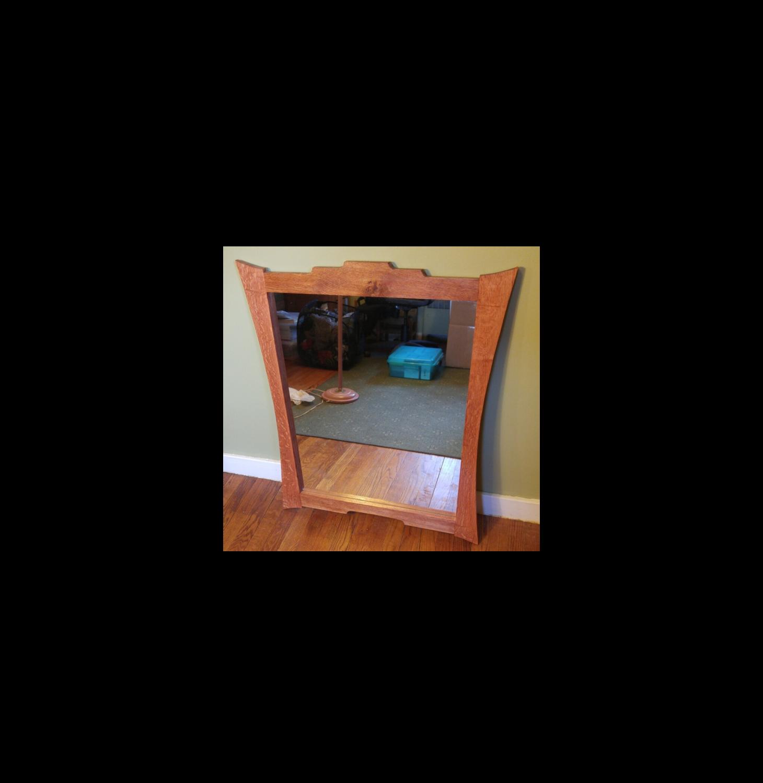 Mirror With Quarter Sawn White Oak Frame