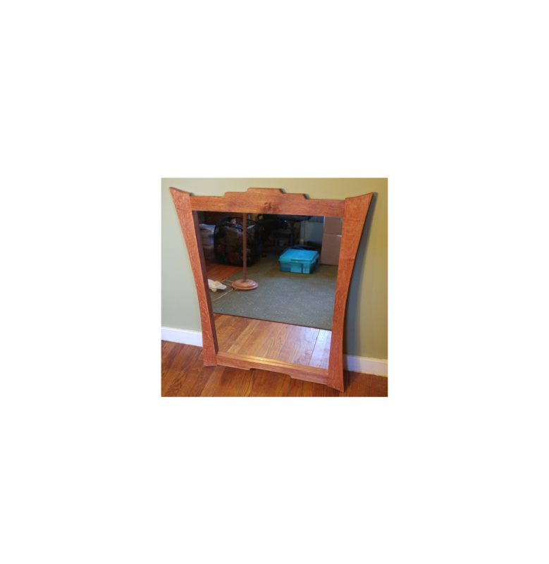 Mirror With Quarter Sawn White Oak Frame