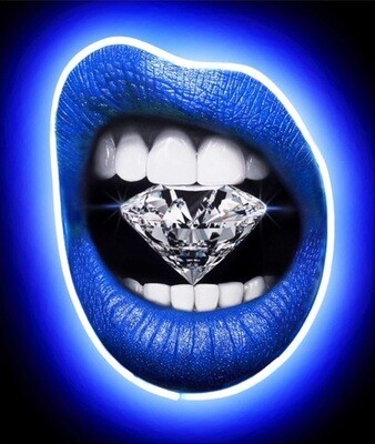 Sapphire Blue Neon by Peter Perlegas