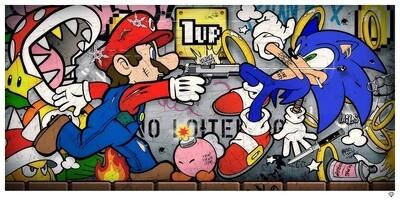 Sonic vs Mario by JJ Adams