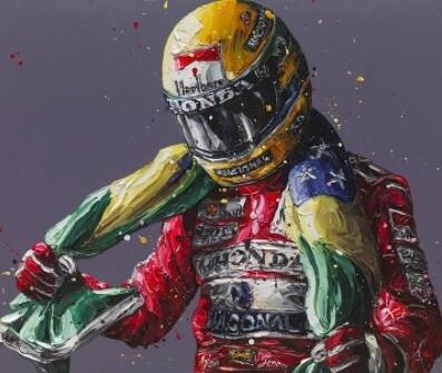 Senna 25th Anniversary Flag by Paul Oz