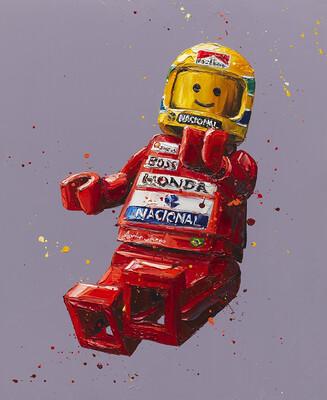 Senna Lego by Paul Oz
