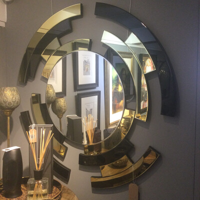 Modern Gold and Chrome Mirror