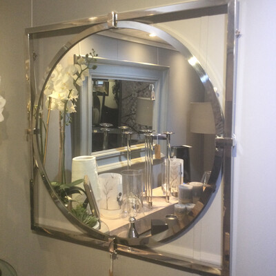 Contemporary Chrome Mirror