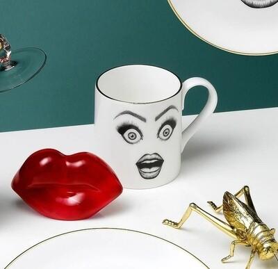 Moody Muse Bone China Coffee Mugs