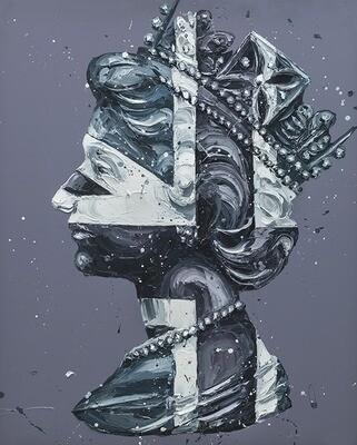Monochrome Jack Queen by Paul Oz