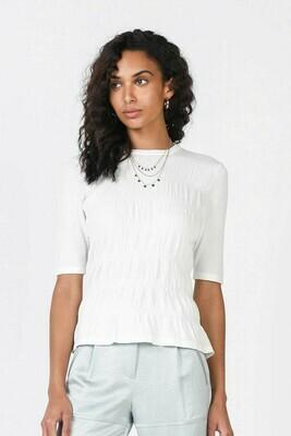 White Smocked Sweater