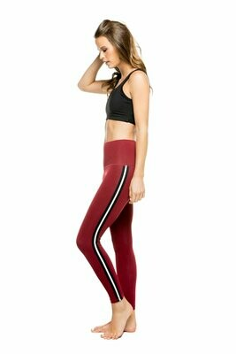 Sage Ankle Legging in Red Heather/Silver