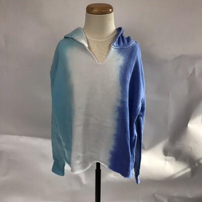 Girls' East West Tie Dye Blue Hoody