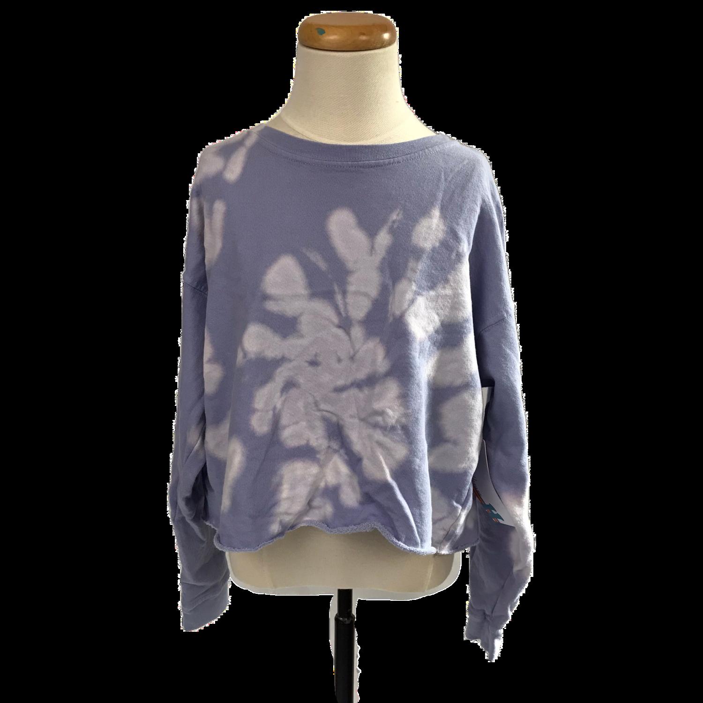 Girls' Lilac Tie Dye Crewneck Sweatshirt
