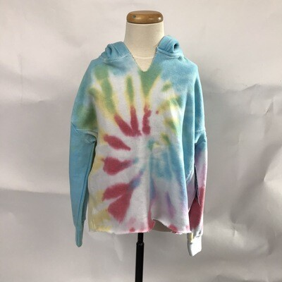 Girls' Multi Color Swirl Tie Dye Hoody