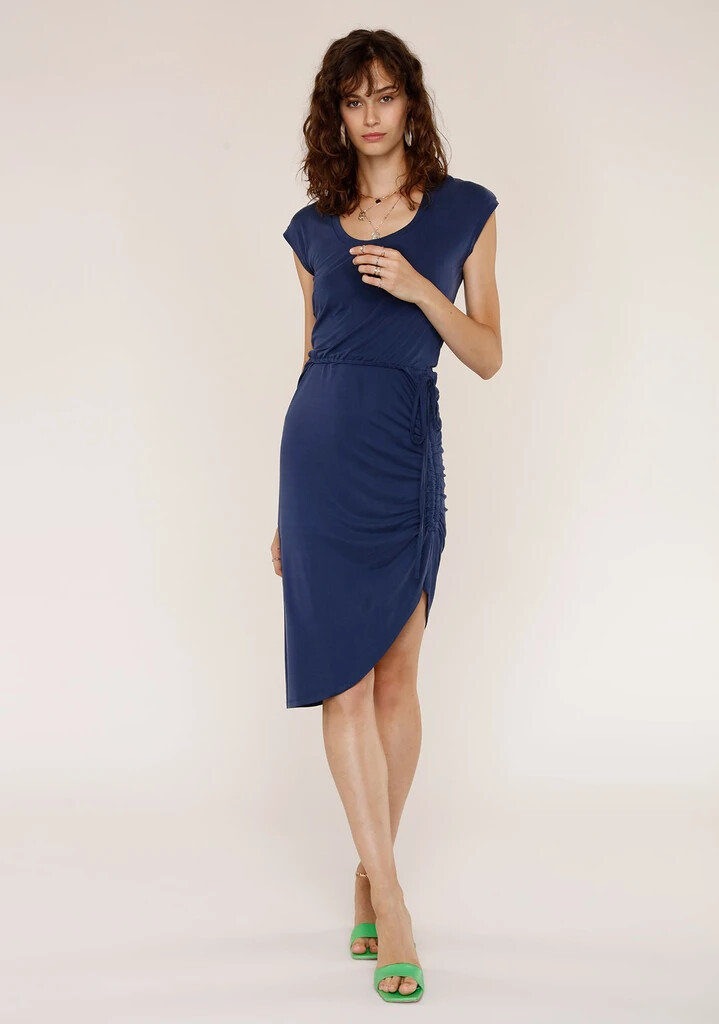Rafe Navy Knit Dress