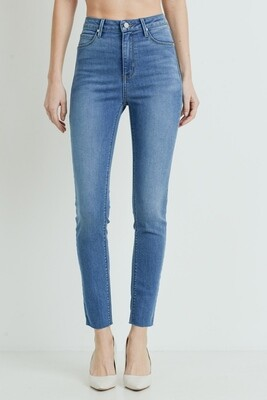 Scissor Cut Skinny Jean Med Denim
