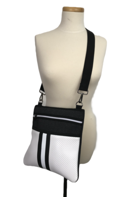 Peyton Crossbody Bag Black White