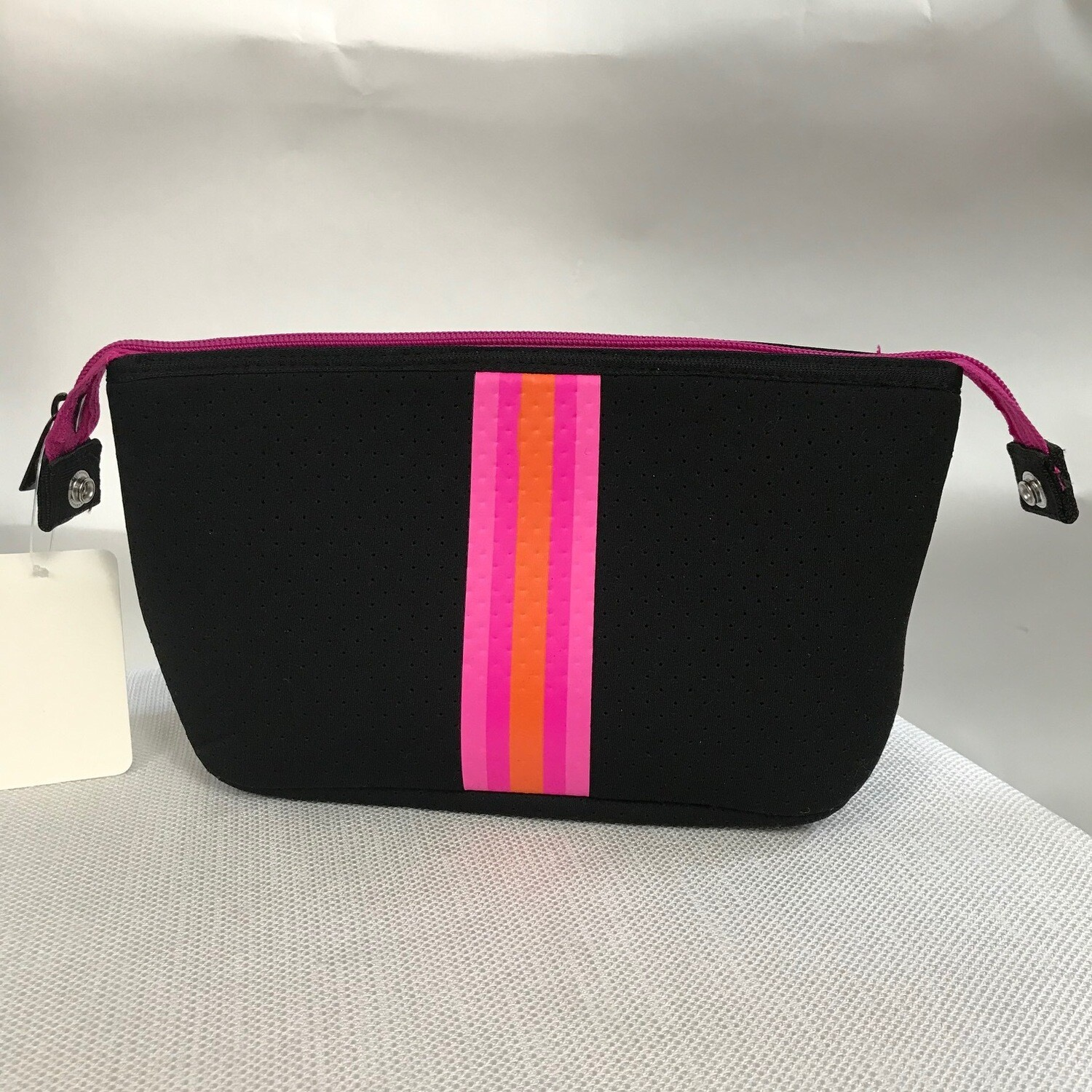 Erin Zipper Pouch Black Pink Orange
