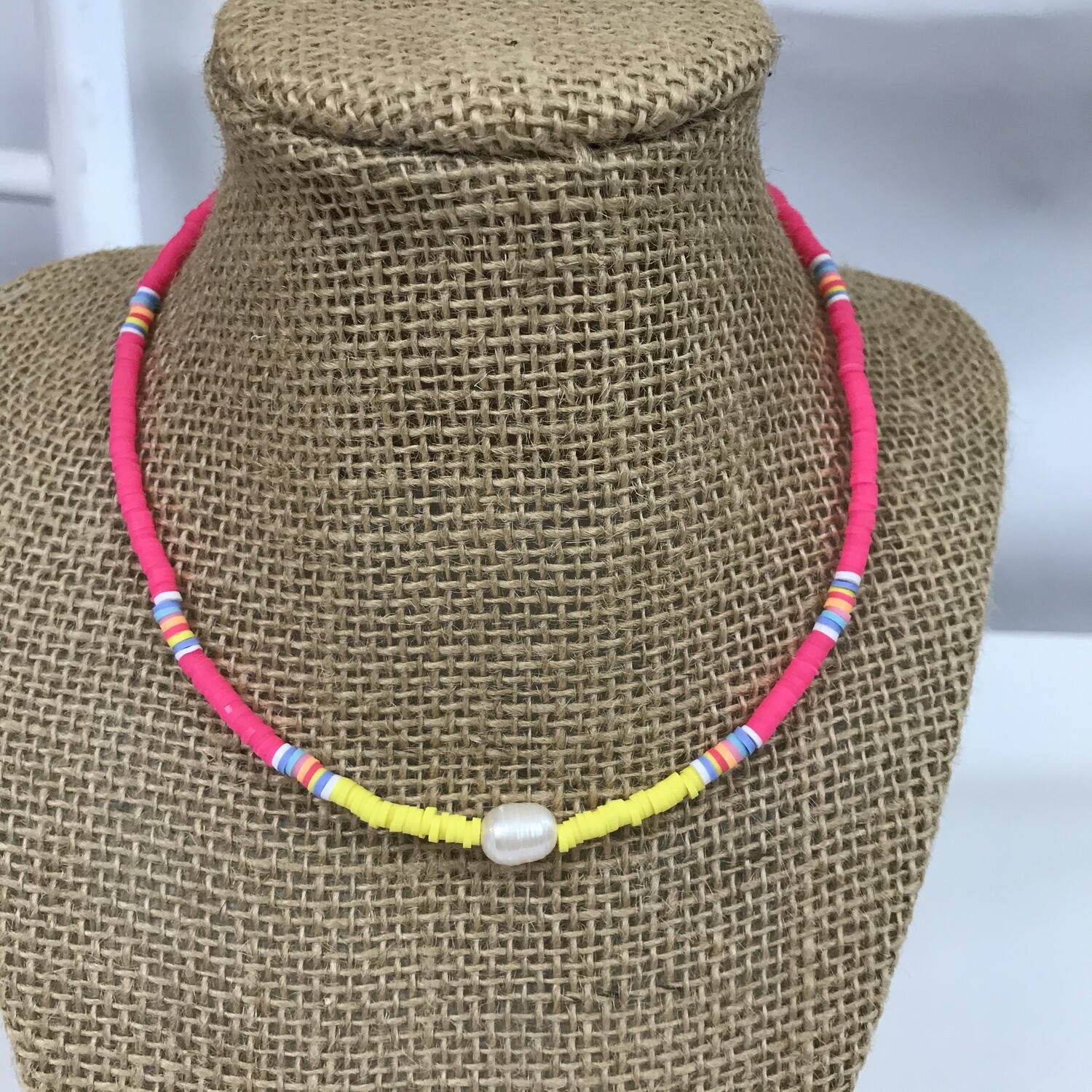 Bright Necklace Pink Yellow
