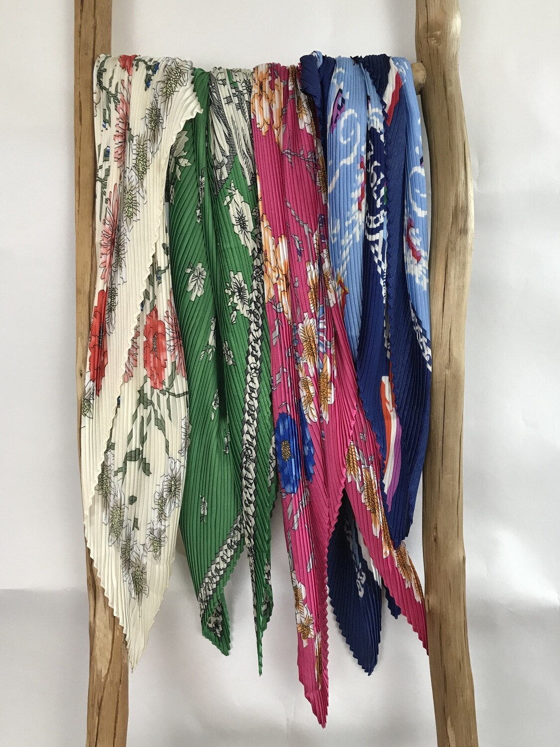 Small Pleated Scarf Assorted Designs