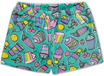 Girls' Fleece RAINBOW FOOD Lounge Shorts