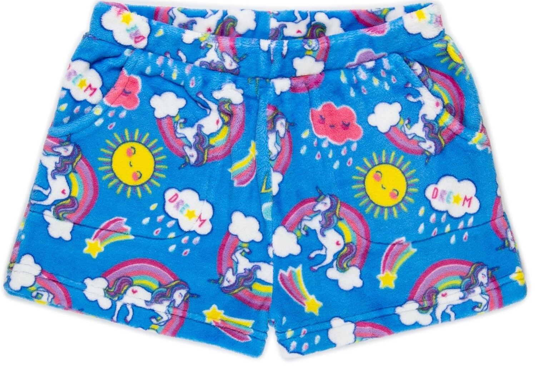 Girls' Fleece UNICORN RAINBOW Lounge Shorts