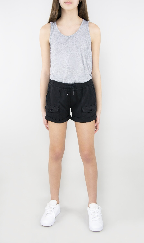 Girls Tractr Roll Cuff Pocket Short