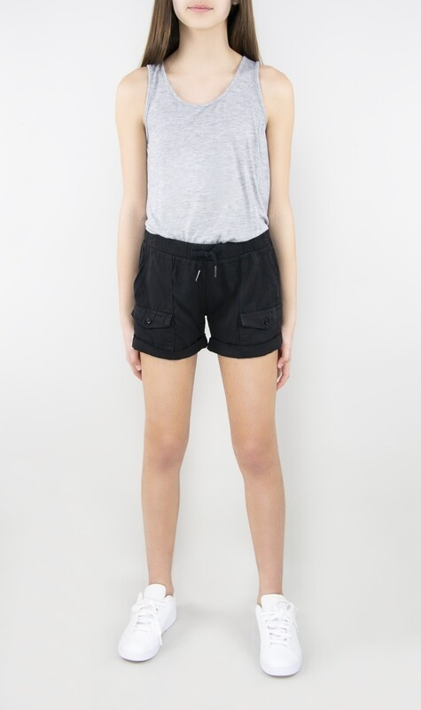 Girls Tractr Roll Cuff Pocket Short