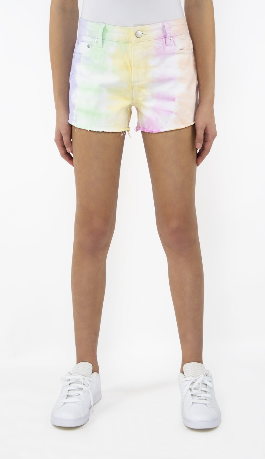 Girls Tractr Multi Color Tie Dye Short