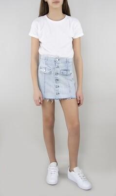 Girls Tractr Denim Mini Skirt