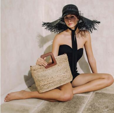 Top Handle Woven Bag NATURAL