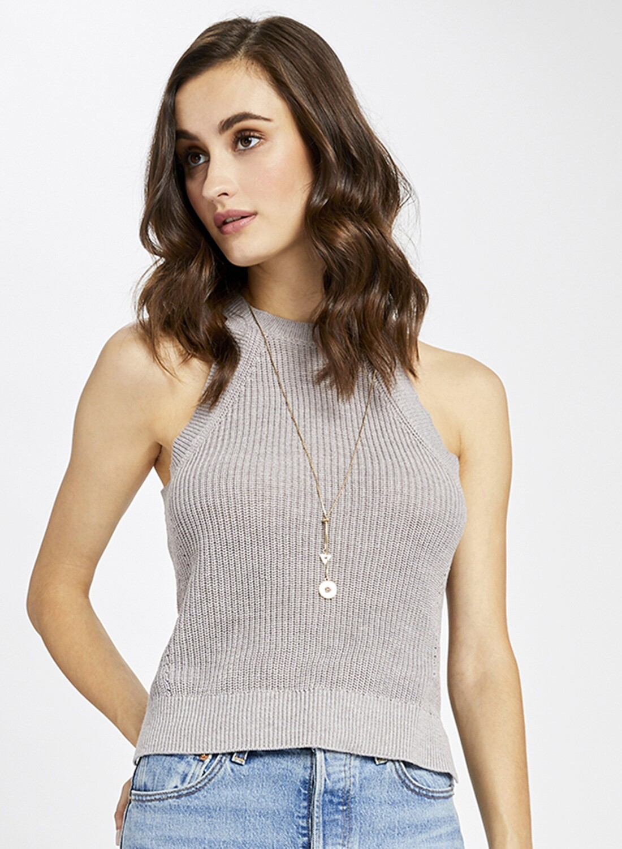 Grey Halter Sweater